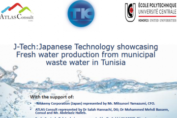 J-Tech:Japanese Technology showcasing Fresh water production from municipal waste water in Tunisia